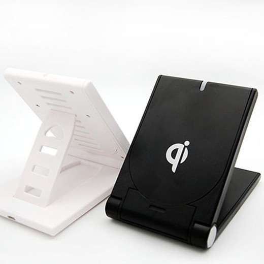 WL040简约可折叠桌面支架双用无线充