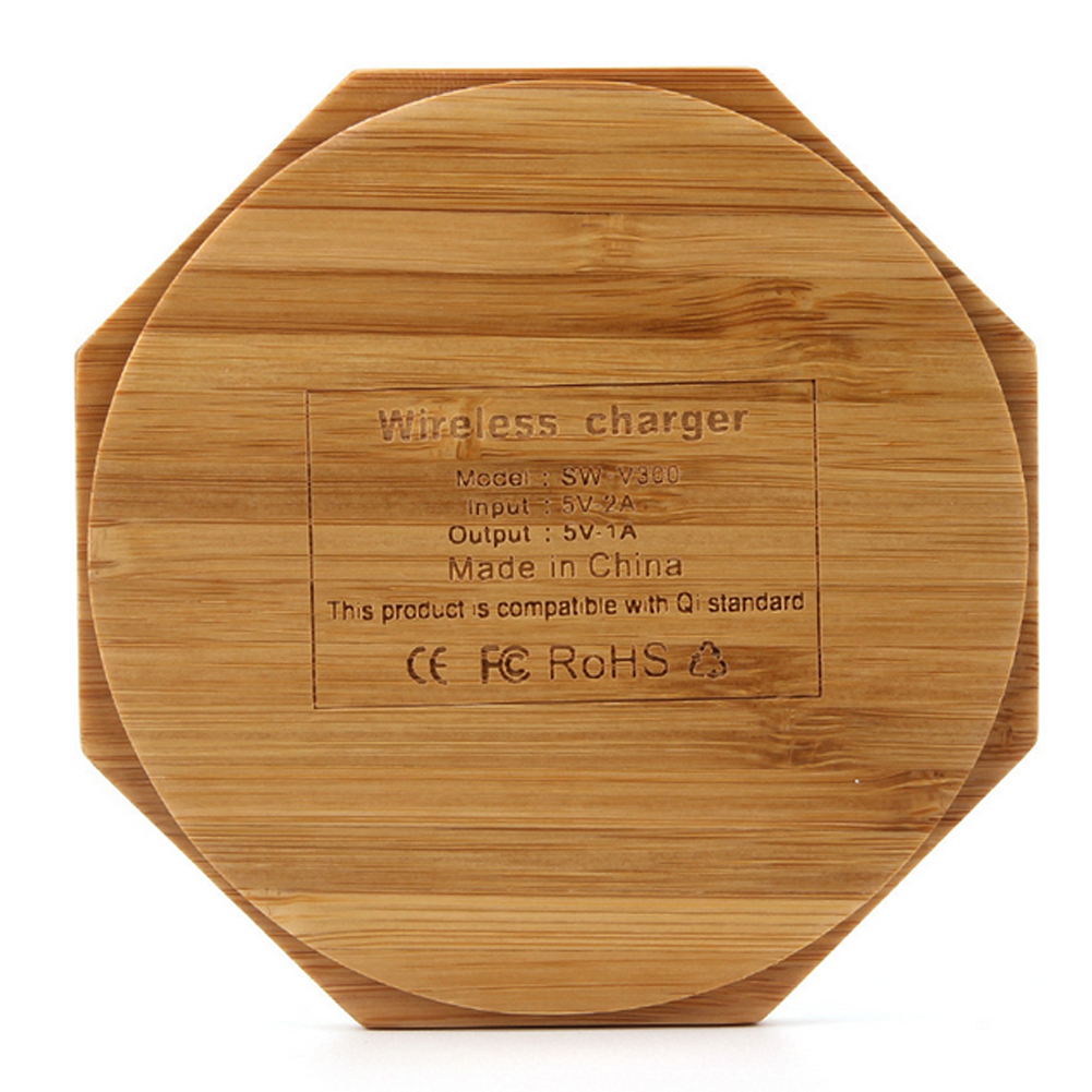 WL014  Wood customized shape environmental wireless charger