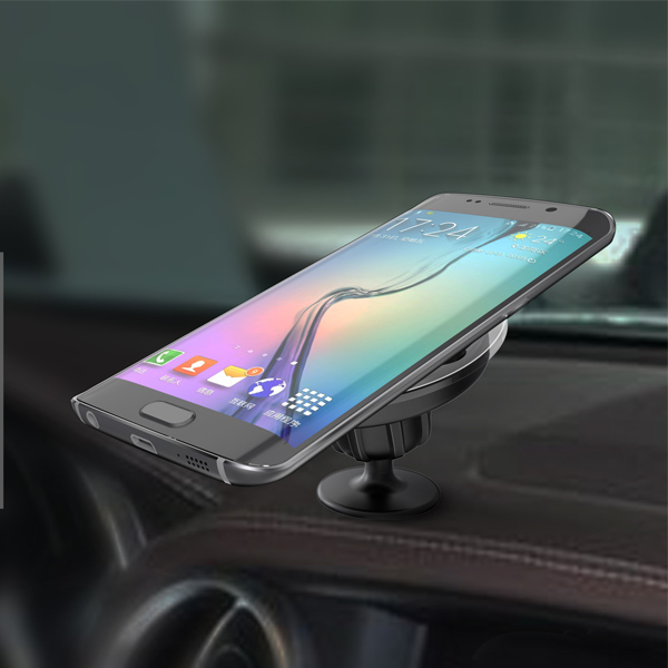 WLC007 360 rotate,suck tray stable wireless car charger