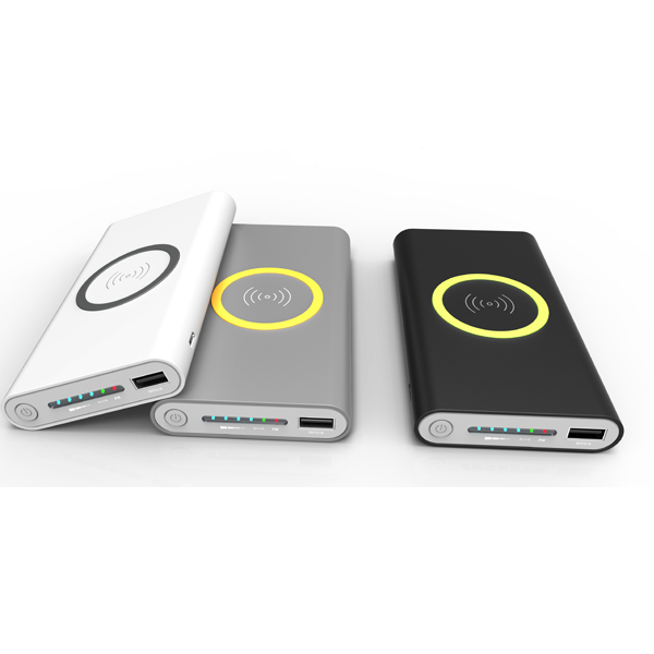 WLP006 Three in one built in receiver and transmitter wireless power bank
