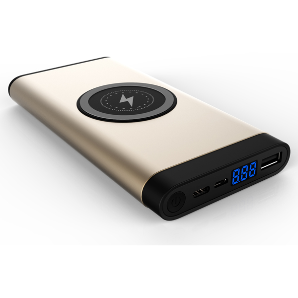 WLP015 8000mah Dual output ,type-C input wireless power bank