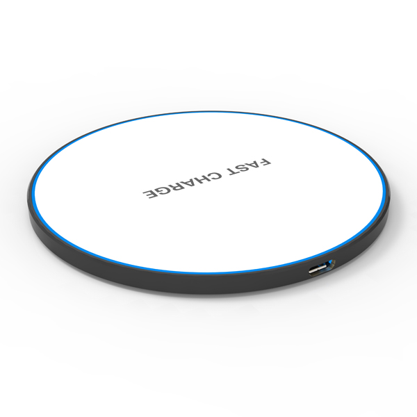 WL075 10W fast ultrathin Zinc wireless charger