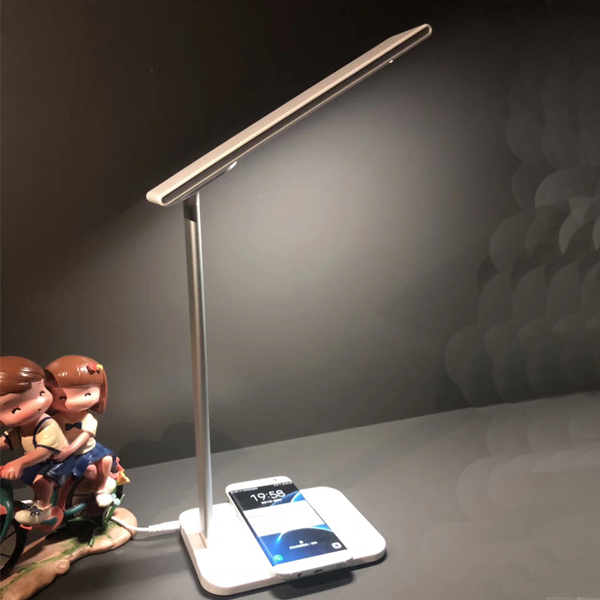 LED desk lamp,one wireless charger and one usb output