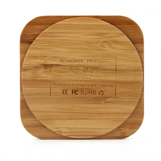 WL011 Wood square environmental wireless charger