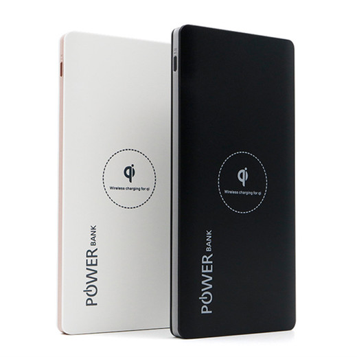 WLP009 10000mah slim succinct dual ouput wireless power bank