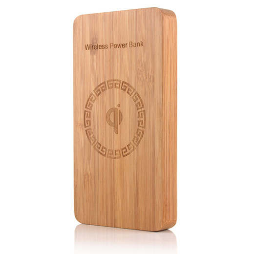 WLP004 8000mah with wood material wireless power bank