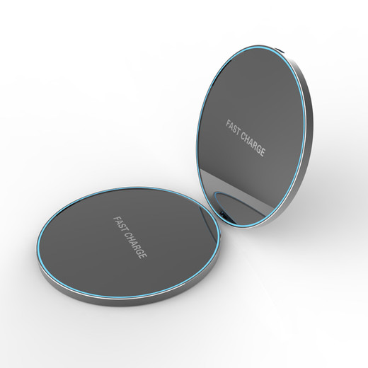 WL076 10W fast ultrathin Aluminium wireless charger