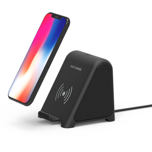 Blutooth speaker compatible with 10W/7.5W/5w fast wireless charger
